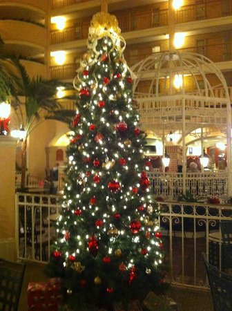 Embassy Suites by Hilton Orlando - International Drive / Convention Center: Atrium Area at Christmas