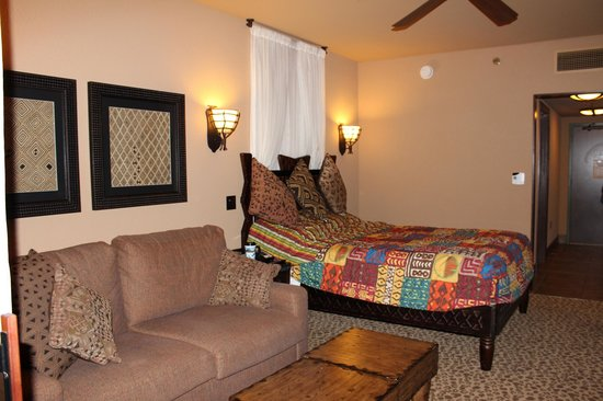 ‪‪Disney's Animal Kingdom Villas - Kidani Village‬: Studio bed/pull out couch