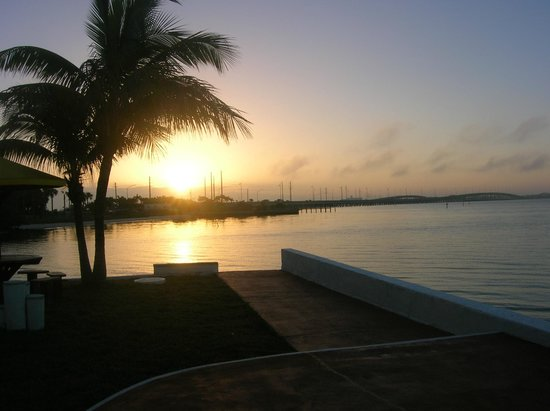 Banana Bay Waterfront Motel: view looking towards Punta Gorda sunrise