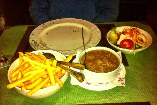 La Trattoria: Beef stew - €10