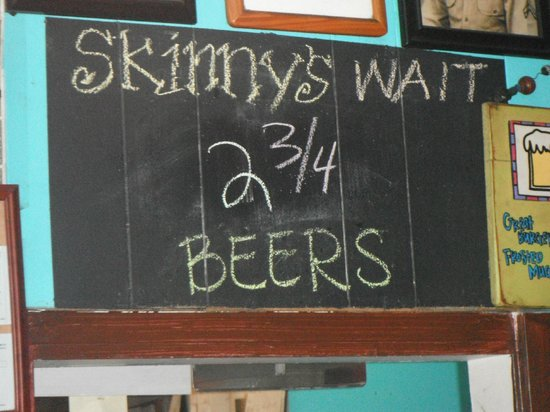 Skinny's Place Incorporated: We tried to make it 2 3/4 but there were too fast that night