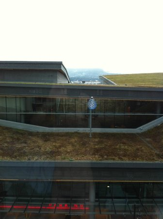 Fairmont Pacific Rim: View of Convention center green roof.