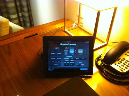 Fairmont Pacific Rim: Room controls on iPad.