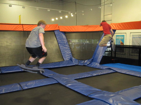 Sky Zone Trampoline Park-Columbus: Bounceboards-available Wednesday nights only from 6-8pm