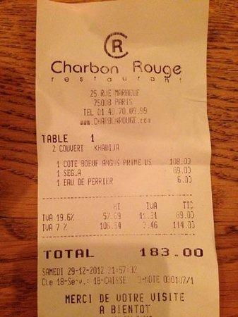 Charbon Rouge : note plus que salée à 2