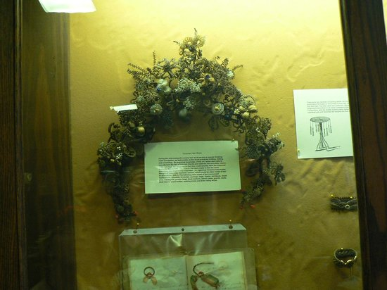 Milton House Museum: One of several displays made with human hair!