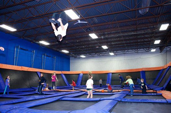 Sky Zone Trampoline Park Columbus Main Court