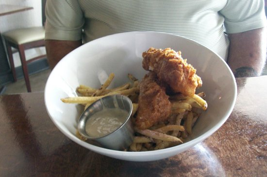fish and chips at Graze