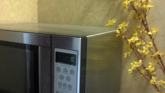 Baymont Inn & Suites Huntsville Airport/Madison: Dirt microwave