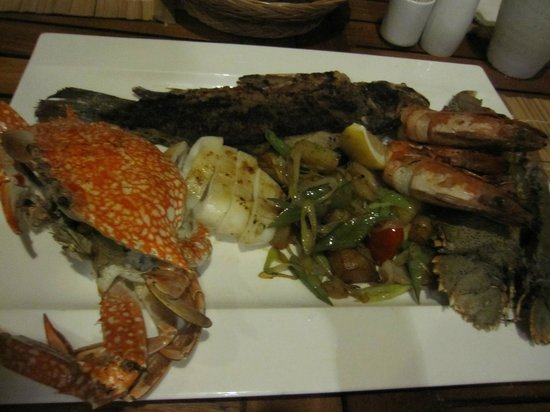Panwa Boutique Beach Resort: seafood platter, truly delicious