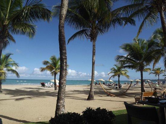 Courtyard by Marriott Isla Verde Beach Resort: View of beach from breakfast buffet