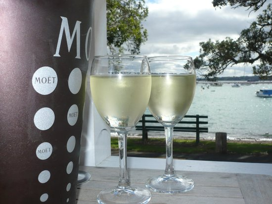 Duke of Marlborough: A lovely glass of New Zealand Sauvignon Blanc x 2...