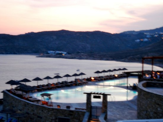 Royal Myconian Resort & Thalasso Spa Center: View from our spa