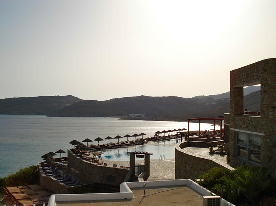 Royal Myconian Resort & Thalasso Spa Center: View from our outdoor spa