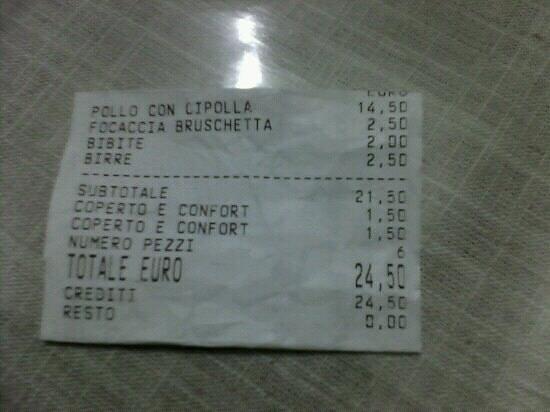 Mercato San Severino, Italia: cena per 2