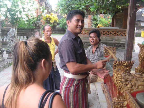 Wayan Ariana Experience Bali Driver - Private Day Tours: Temple music