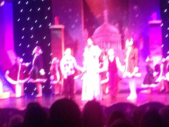 Lighthouse Theatre: My son on stage with Darren Day the boy on left