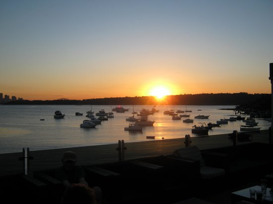 Watson's Bay : Sunset from the Watsons Bay Hotel Beer Garden