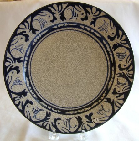 Dedham Historical Society: Dedham Pottery Traditional Rabbit Plate