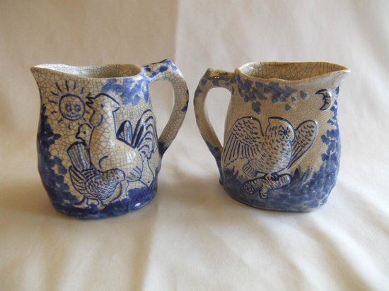Dedham Historical Society: Dedham Pottery Morning and Night pitchers