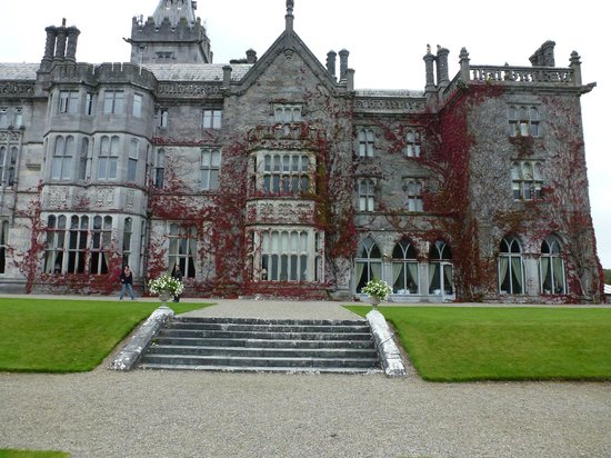 Adare Manor: Looking from grounds to room