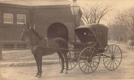 c 1890 in front of Dedham Historical Society
