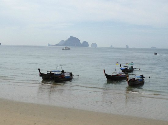 The L Resort Krabi: The beach across from the hotel