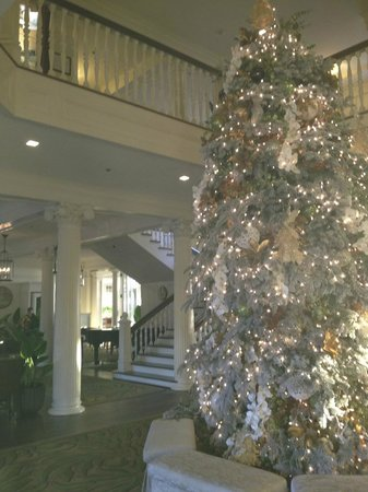 Moana Surfrider, A Westin Resort & Spa: Christmas tree in the foyer