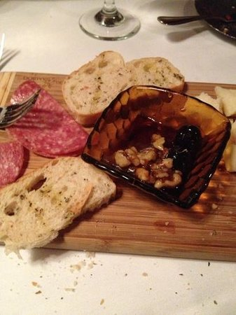 La Piccola Fontana: The meat and cheese board. Excellent. Could be served for two people.