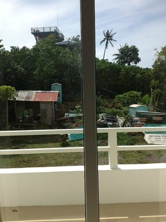 Tanawin Resort and Luxury Apartments: View of portable toilets from room 9