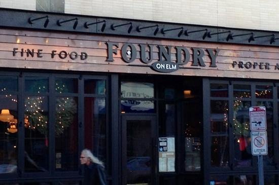 Foundry On Elm: entrance on Elm St.