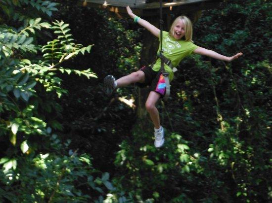Jungle Top Zipline Adventure: Flying!