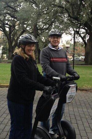 Segway of Savannah: Fun Savannah Segway Tour Mary & Richard