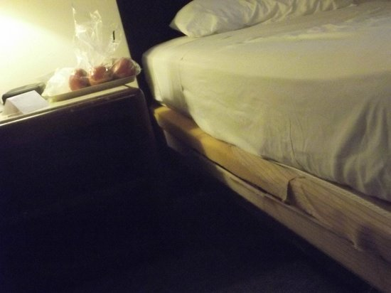 River Park Hotel & Suites Downtown/Convention Center: box spring damage