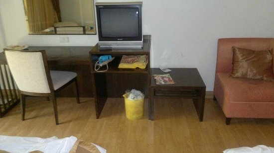 Beach Garden Hotel: Television and writing desk