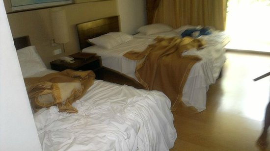 Beach Garden Hotel: Two single beds and an extra bed (Deluxe Garden View)