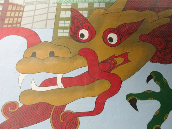 Chinatown International District: Wall painting