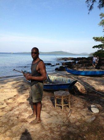 Freedomland Phu Quoc Resort: Waiting to go on snorkel trip 