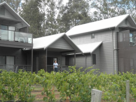 Hermitage Lodge: View of room from vineyard