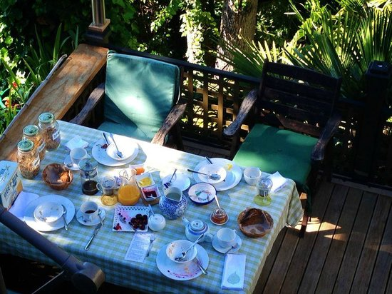 The Green House on the Hill B&B: Breakfast amongst the treetops