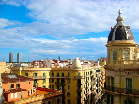 Hotel Ohla Barcelona: View from our Terrace, off of the Dome Suite