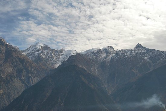 Kalpa, India: View from the Suite Room (4th floor)