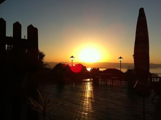 Villa Mulligan: amanecer desde la cama
