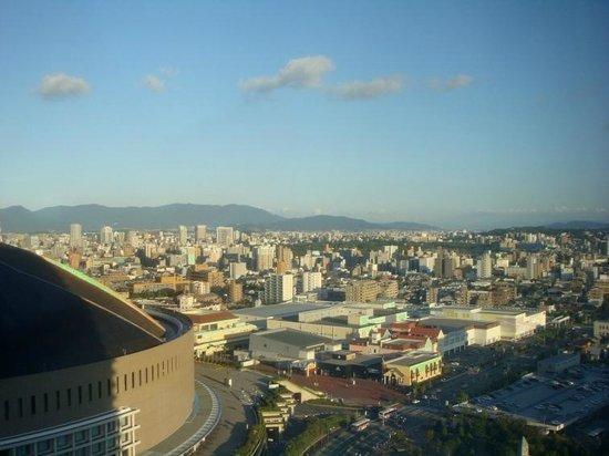 Hilton Fukuoka Sea Hawk: View from top floor bar