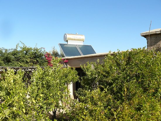 Jnane Tihihit: Rooftop with solar panel