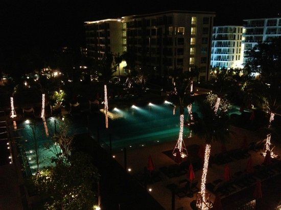 Amari Hua Hin: The view from the balcony at night