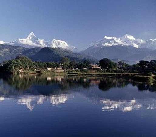 Asien: View of Pokhara Lake Side