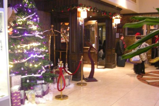 The Regency Hotel Dublin: reception - christmassy!
