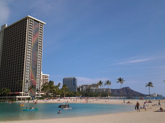 Hilton Hawaiian Village Waikiki Beach Resort : ラグーンからの眺め