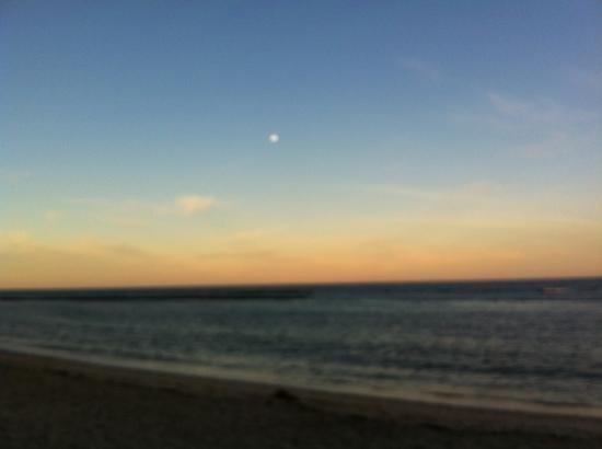 Aquarela Praia: por do sol visto do aquarela